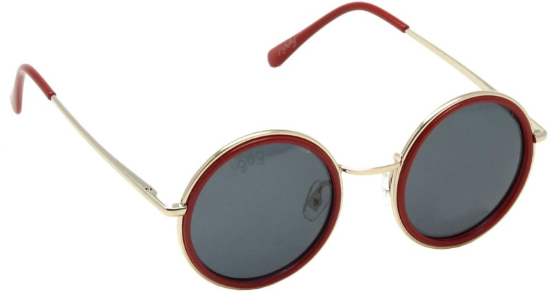 I-GOG IG-9541-GL-RD Baby Kids (Age 4 to 14) Polarized Round Sunglasses(Black)