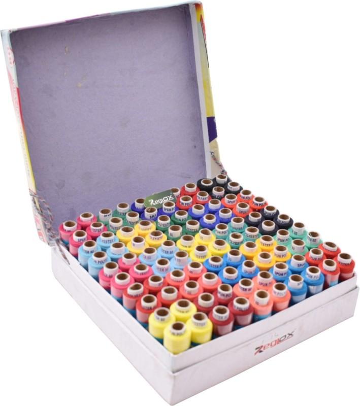 Reglox 100 Thread Spools (25 Shades, each 4 in no.) Thread(200 m Pack of100)