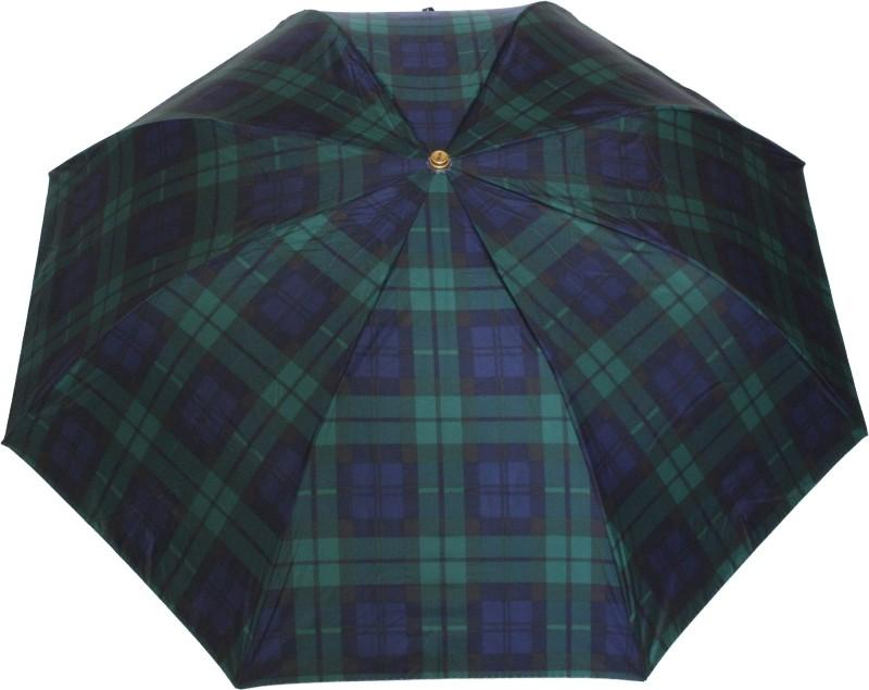 Sun Brand Swift 9- 3 Fold (Men UV Protective) Umbrella(Green, Blue)