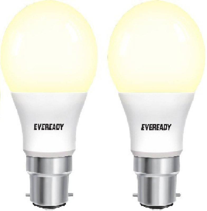 Eveready 5 W Globe B22 LED Bulb(Yellow, Pack of 2)