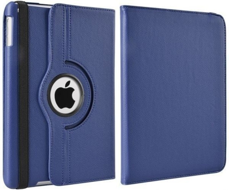 TGK Book Cover for Apple iPad (5th generation) 2017(Dark Blue, Leather)