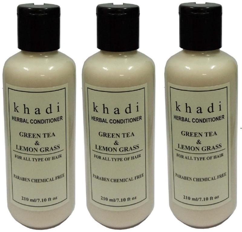 Khadi Herbal Green Tea & Lemon Grass hair conditioner (Paraben Free )(630 ml)