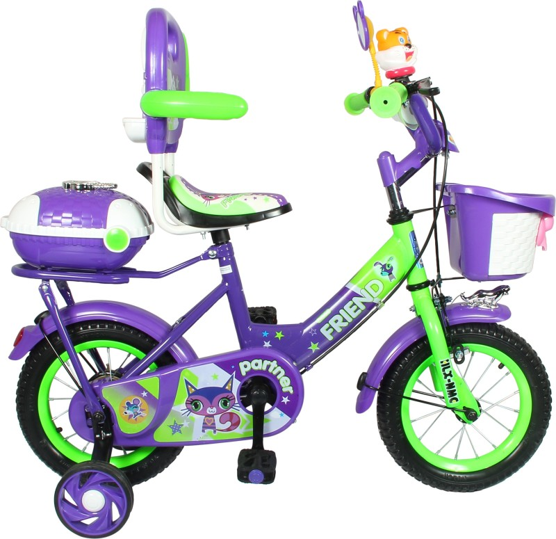 2ad31b2ae7d HLX-NMC KIDS BICYCLE 12BOWTIE PURPLE GREEN 12BOWTIEPLGR Recreation Cycle(Purple
