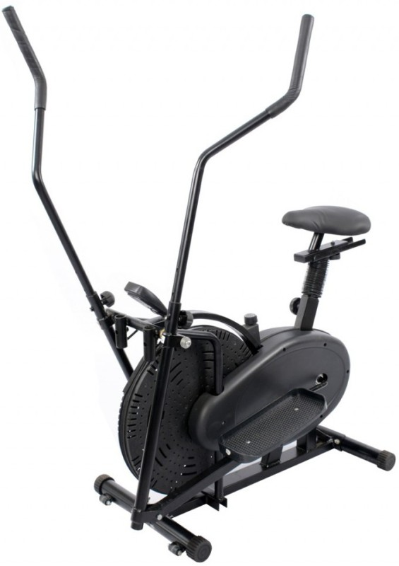 Protoner Elliptical Orbitrack Bike Dual-Action Stationary Exercise Bike(Black)
