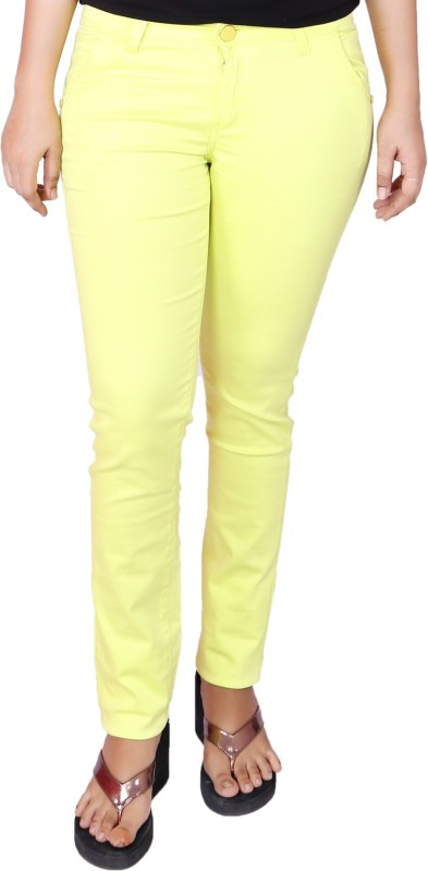 Present Jeans Slim Women Yellow Jeans