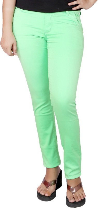 Present Jeans Slim Women Green Jeans