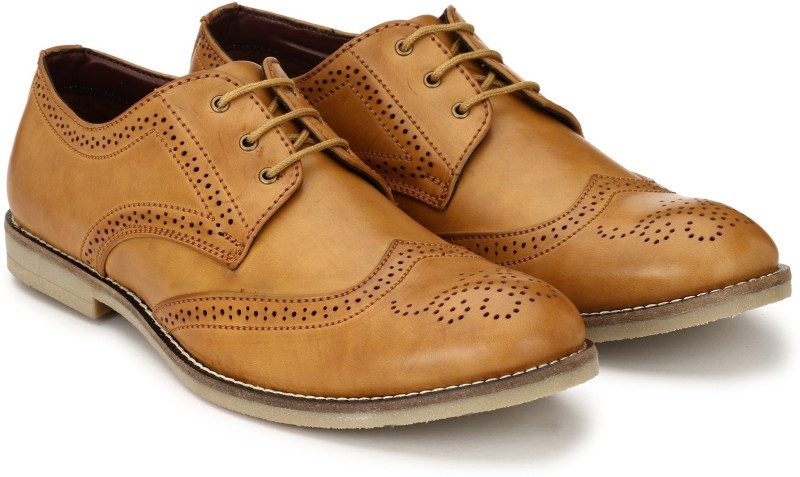 Fentacia Brogue Lace Up For Men(Tan)
