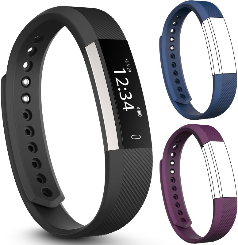 fbandz Altum-2Strap Fitness Smart Band(Blue, Purple Strap, Size : Free Size)