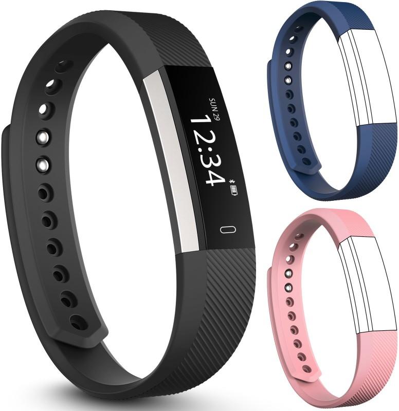 fbandz Altum-2Strap Fitness Smart Band(Blue, Pink Strap, Size : Free Size)