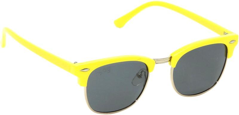 I-GOG IG-9542-YL Baby Kids (Age 4 to 14) Polarized Wayfarer Sunglasses(Black)