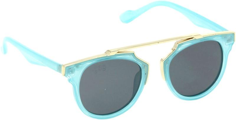I-GOG IG-9532-BU Baby Kids (Age 4 to 14) Polarized Round Sunglasses(Black)