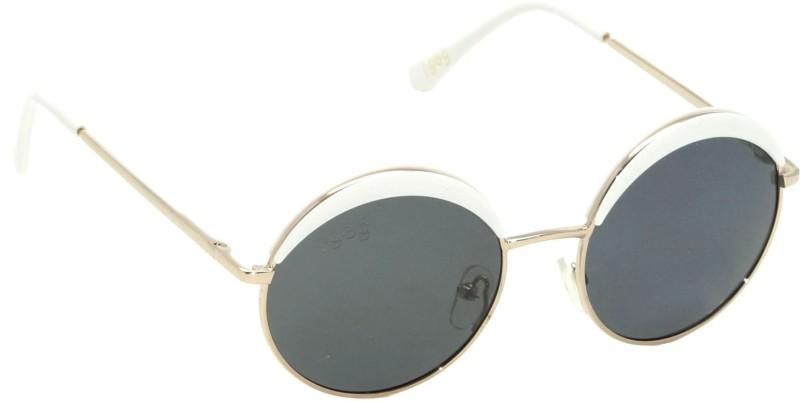 I-GOG IG-9545-GL-WT-BL Baby Kids (Age 4 to 14) Polarized Round Sunglasses(Black)
