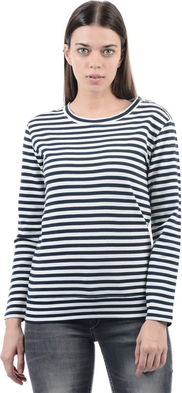 Pepe Jeans Full Sleeve Striped Womens Sweatshirt
