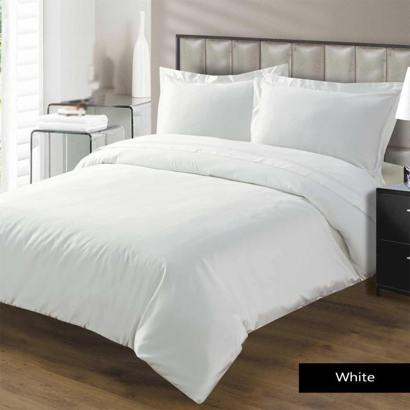 Linenwalas Single Cotton Duvet Cover(White)