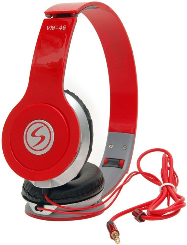 Signature VM 46 Wired Headphone(Red, Over the Ear)