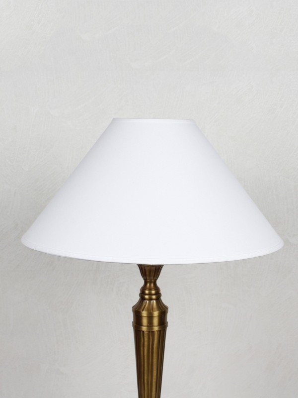 Kapoor E Illuminations TLS2435COWH Table Lamps Lamp Shade(Cotton)