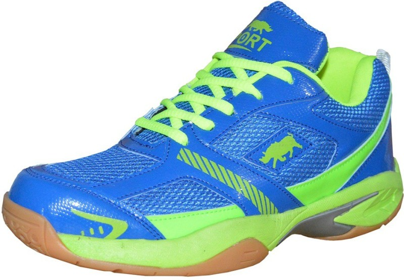 Port PYTHON Badminton Shoes For Men(Blue, Green)