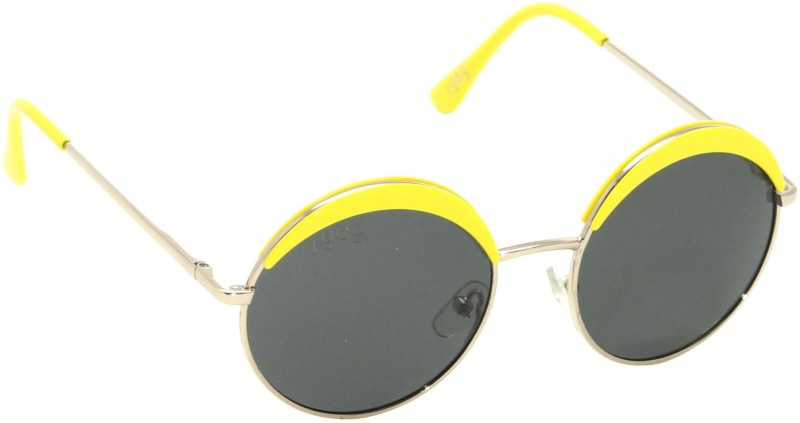 I-GOG IG-9545-GL-YL Baby Kids (Age 4 to 14) Polarized Round Sunglasses(Black)