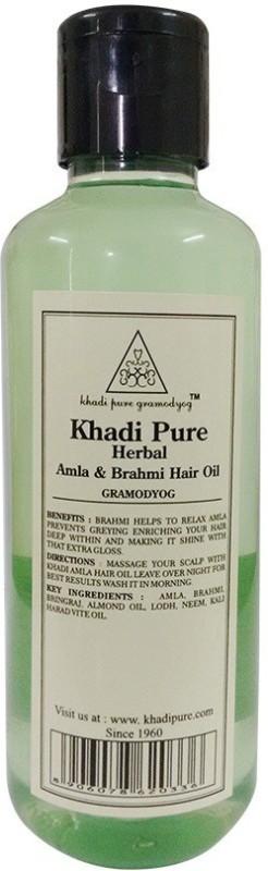 Khadi Pure AMLA & BRAHMI Hair Oil(210 ml)