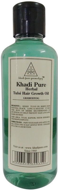 Khadi Pure Tulsi Hair Growth Oil Hair Oil(210 ml)