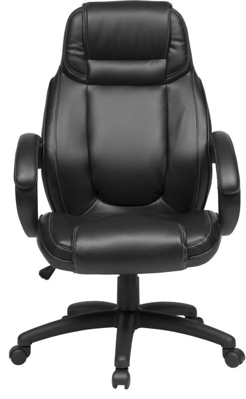 ZENNOIIR Executive Chair Leatherette Office Executive Chair(Black)