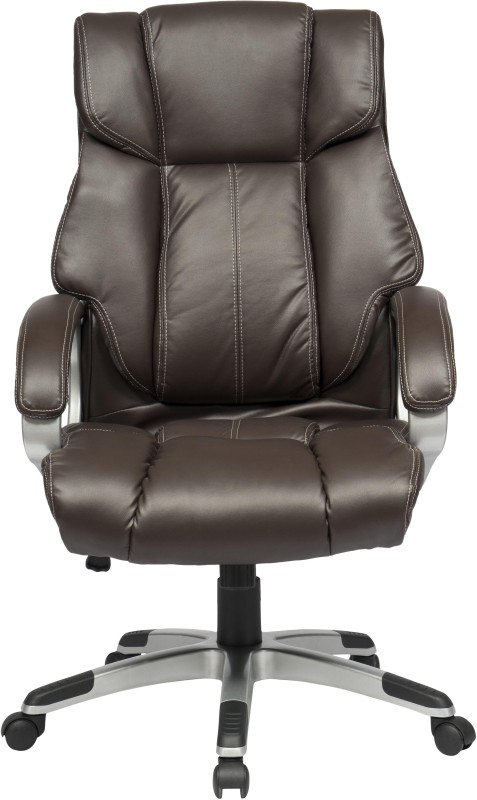 ZENNOIIR Executive Chair Leatherette Office Executive Chair(Brown)