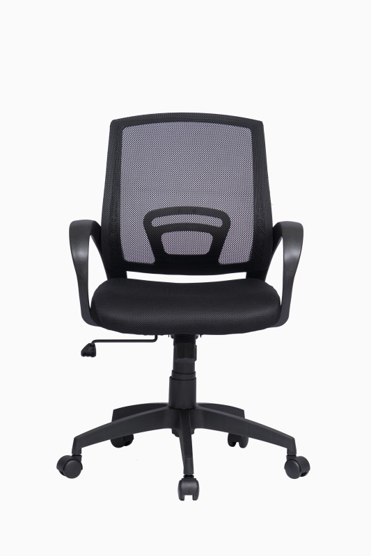 ZENNOIIR Work Station Leatherette Office Arm Chair(Black)