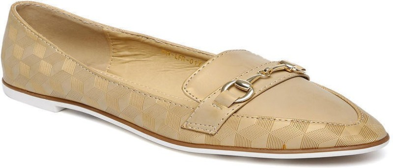 Addons Addons embossed loafers Casuals For Women(Beige)