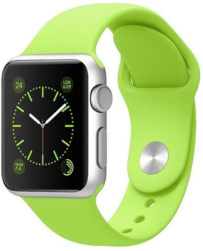 ShopAis iWatch 42mm Silicon Band Green Smart Watch Strap(Green)