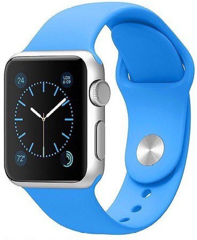 ShopAis iWatch 42mm Silicon Band Blue Smart Watch Strap(Blue)