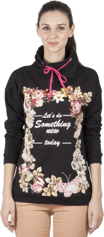 B Kind Full Sleeve Floral Print Women's Sweatshirt