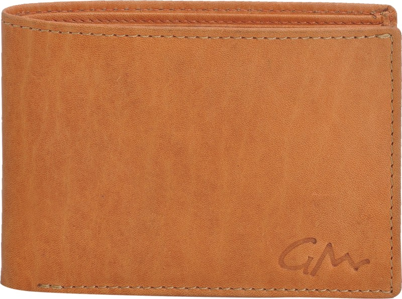 Gentleman Men Tan Genuine Leather Wallet(10 Card Slots)