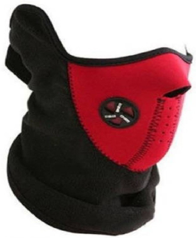 CheckSums Red Bike Face Mask for Men & Women(Size: Free, Balaclava)