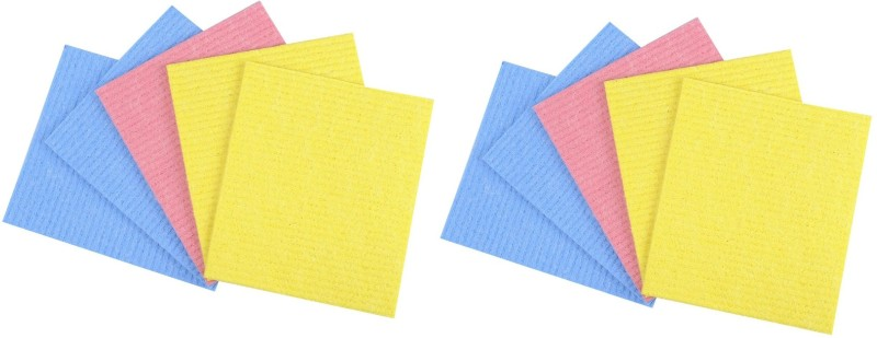 Seahawks Kitchen Wet -N- Wipe Cleaning Cloth pack of 10 pcs Wipes(Multicolor)