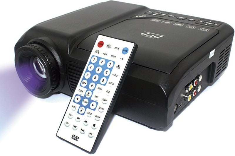 Style Maniac X Series High Quality Hybired Anti-Radiation Home Theater Portable Projector(Black)