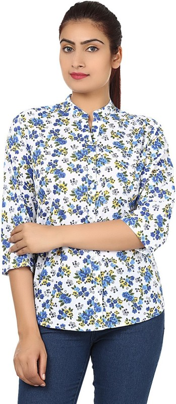 StarShop20 Party 3/4th Sleeve Solid Women's Blue Top