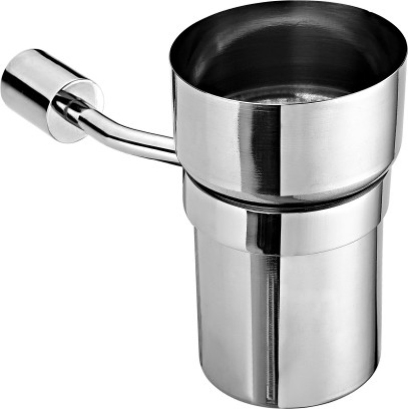 Aquarium Stainless Steel Bath Mug(Silver 0.3)