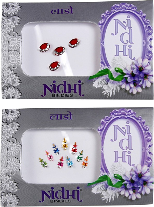NIDHI bindi28 Forehead Multicolor Bindis(Morden Bindi)