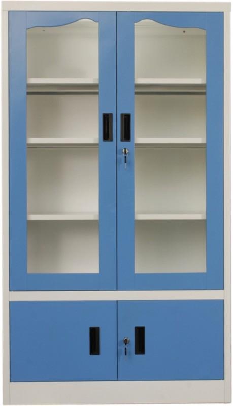 Woodness Metal Close Book Shelf(Finish Color - Dual tone blue white)