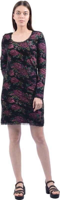 Pepe Jeans Womens Shift Black, Green, Pink Dress