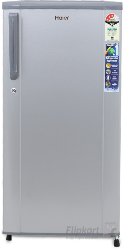 Haier 181 L Direct Cool Single Door Refrigerator(Moon Silver, HRD-1813BMS-R/E)