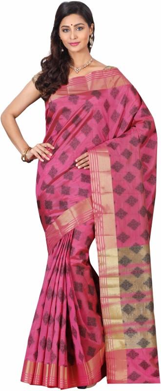The Chennai Silks Self Design Bollywood Tussar Silk Saree(Pink)