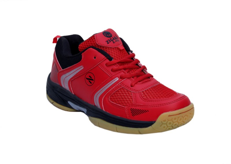 Zigaro Badminton Shoes For Men(Red)