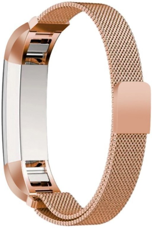 Higar MILANESE-LOOP-STRAP-ROSEGOLD Smart Watch Strap(Yellow)