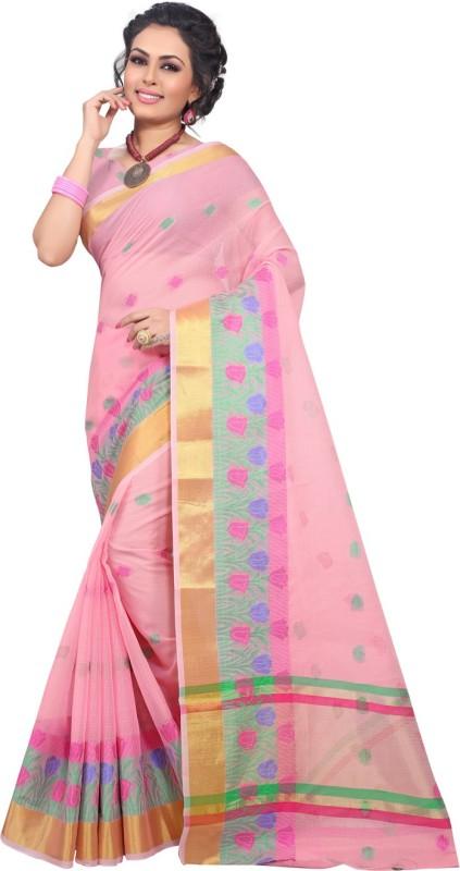 E-Vastram Woven Fashion Kota Cotton Saree(Pink)