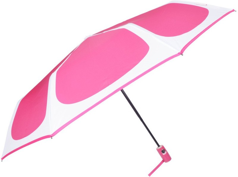 Murano 3 fold AOAC with Safety beautiful pink color girls Umbrella(Pink)