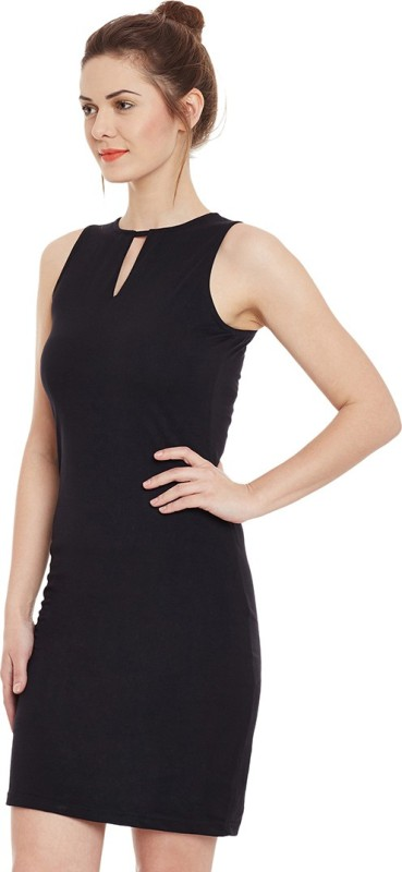 Miss Chase Women's Bodycon Black Dress