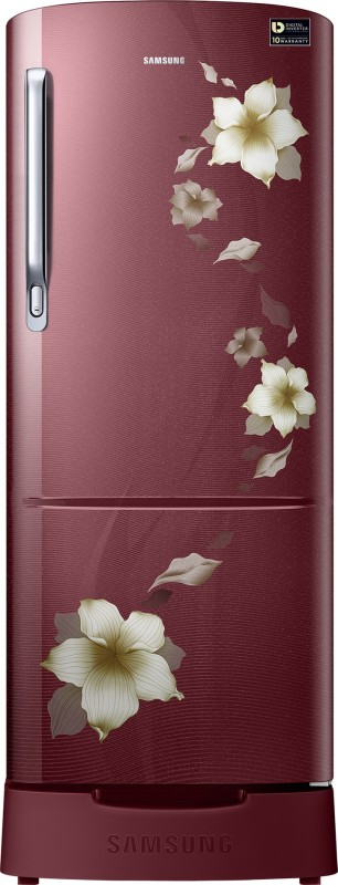 Samsung 230 L Direct Cool Single Door Refrigerator(Star Flower Red, RR24M289YR2/NL)