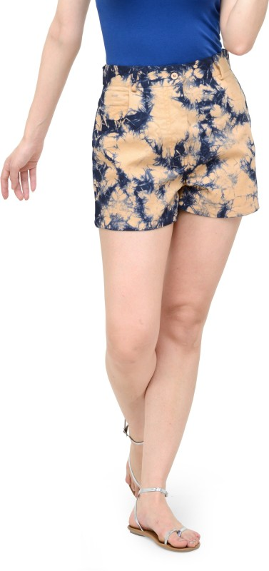 Teesort Printed Women Multicolor Basic Shorts