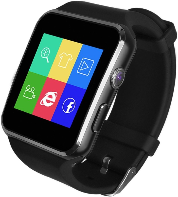 Voltegic ® TUFEN Curved Ultra HD Touch Screen Bluetooth Notifier Wrist es Support Micro SIM & TF / SD Card, Pedometer and Camera Smartwatch(Black Strap Free Size)